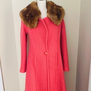 Tracy Reese New York Pungen Pink Faux Fur coat